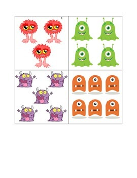 Monster Numbers 1-10 Matching