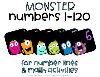 Monster Numbers 1-120 {Number Line}