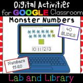 Monster Numbers 11-20 for Google Classroom: Ten Frames, Nu