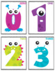 Monster Numbers Flash Cards; Kindergarten; Preschool; Homeschool; Math