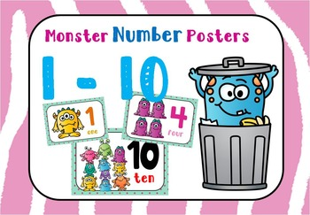 Monster Numbers Posters