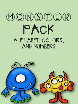 Monster Pack: Numbers, Letters, and Colors