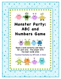 Monster Party: ABC and Numbers Game