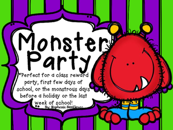 Monster Party (Back to School, Class Reward, End of the Year)