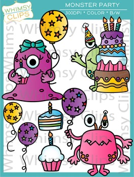 Monster Party Clip Art