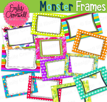 Monster Pattern Frames