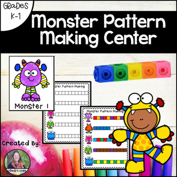 Monster Pattern Making Math Center