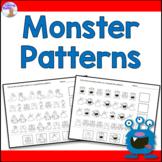 Monster Patterning Worksheets