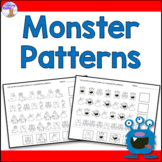 Monster Patterning Worksheets