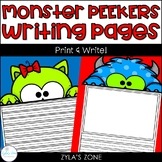Monster Peekers Writing & Craft Pages