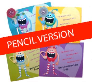 Monster Pencil Holder Valentines