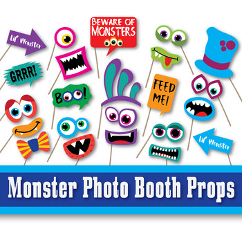 photograph about Printable Monster identify Monster Image Booth Props and Decorations - Halloween Printable