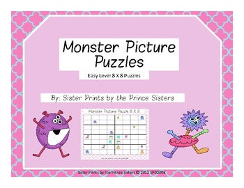 Monster Picture Puzzles 8x8