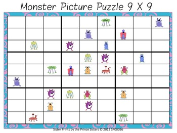 Monster Picture Puzzles Complete Set