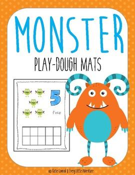Monster Play-Dough Mats