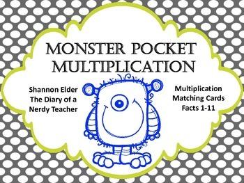 Monster Pocket Multiplication Matching
