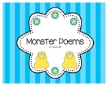 Monster Poems (Paper & Instructions) Poetry Intro, Adjectives