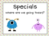 Monster Polka Dot - Calendar, Numbers and Specials Posters