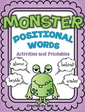 Monster Positional Words - Freebie!