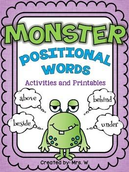 Monster Positional Words - Freebie!