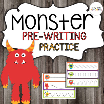 Monster Pre-Writing Practice