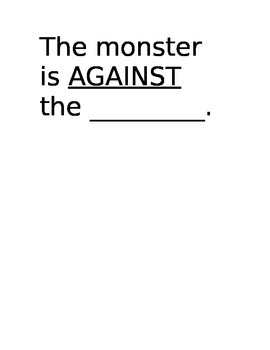 Monster Prepositions Book to Make