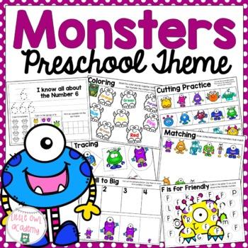 Monster Preschool Theme Packet