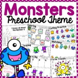 Monster Preschool Theme Packet