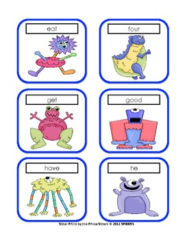 Monster Primer Word Cards