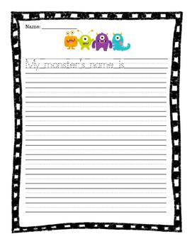 Printable Monster Craft and Writing Activity - No Prep!