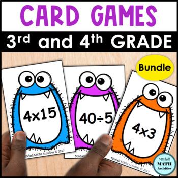 Monster Products & Quotients Card Games BUNDLE