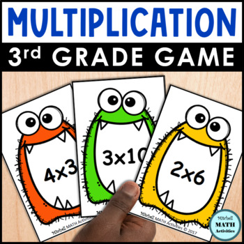 Monster Products Third Grade Multiplication Card Game