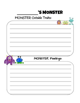 Monster Project (Character Traits & Feelings)