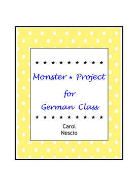 Monster * Project For German Class