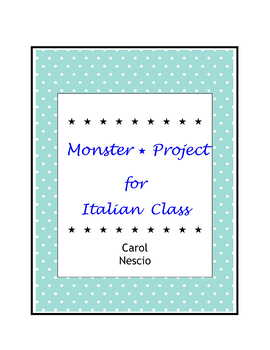 Monster * Project For Italian Class