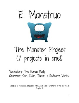 Monster Projects for Reviewing Spanish Vocabulary for the Human Body