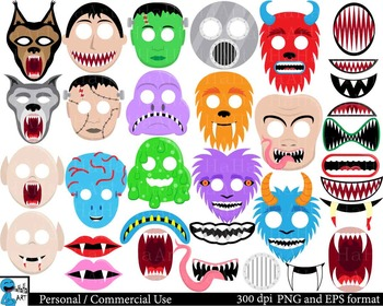 Monster Props -  Set Clipart Digital Personal Commercial Use - 108 images cod183