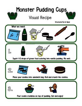 Monster Pudding Visual Recipe