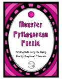 Monster Pythagorean Puzzle - Finding Side Lengths Using th