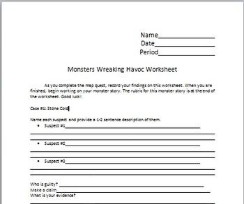 Monster Web Quest