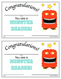 Monster Reader: Certificate in Color