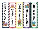Monster Reader Incentive Bookmarks