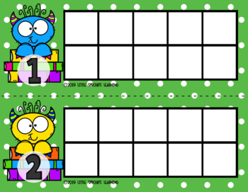 Monster Reader Ten Frames (includes worksheet)