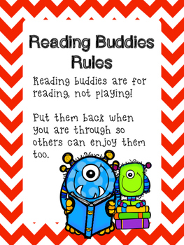 Monster Reading Buddies Poster and Rules