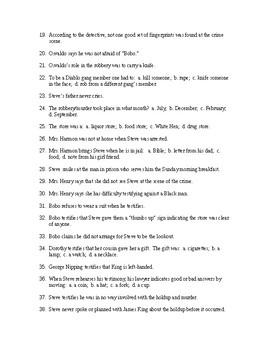 Monster Reading Check Test/Quiz