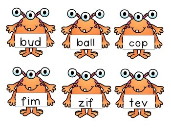 Monster Real and Nonsense Word Sort