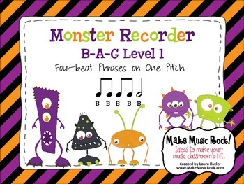 Monster Recorder Practice: B-A-G Level 1