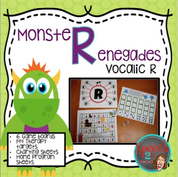 Vocalic R Articulation Monster Renegade Games and Cards