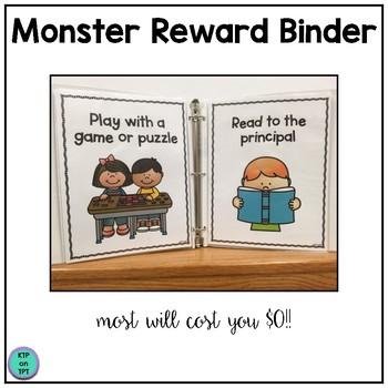 Monster Reward Binder (Positive Behavior Incentive Program)