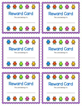 Reward Card {Monster}